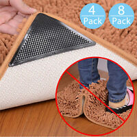 4X 8X Rug Carpet Mat Grippers Non Slip Anti-skid Washable Reusable Grips Pads