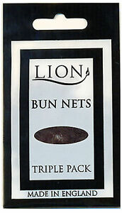 Lion Bun Nets Dark Brown x600 (200 Triple Packs) Ballet,Dance,Gym,Horseriding