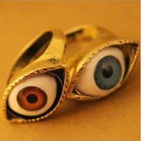 Classic Vintage Evil Eye Finger Ring Eyeball Punk Goth Jewellery Halloween Gift