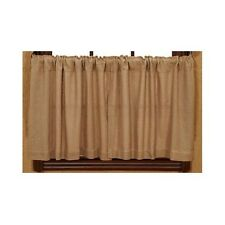 "Burlap Natural Tier Set by VHC Brands - Unlined - 36"" x 36"""