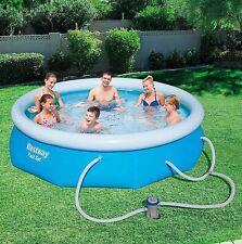 "Bestway Fast Set Pool 10 x 30"" - Blue with pump  8w1 57270"