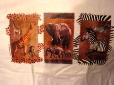GIRAFFE, ELEPHANT, ZEBRA T-SHIRT