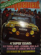 ECHAPPEMENT 1982 RENAULT 5 TURBO SABY + RALLYE MONTE-CARLO / CITROEN VISA GR.B