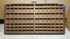 Letterpress Wood Printer Type Drawer Double Cap Tray Shadowbox    CA47  12#