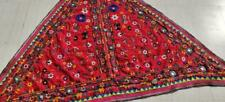 "85"" x 58"" Vintage Rabari Throw Embroidery Ethnic Tapestry Tribal Wall Hanging"