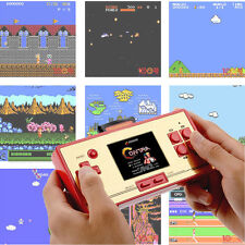 2.6'' LCD Screen Handheld Game Console With 600 Retro Games Card TV-Out Function