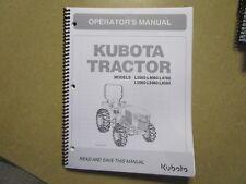 Kubota L3560 L4060 L4760 L5060 L5460 L6060 tractor owners & maintenance manual