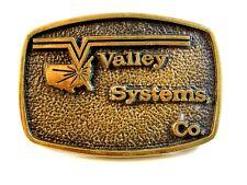1978 Latón Macizo Valley Sistemas Co. Hebilla de Cinturón de Bts