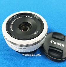 Canon EF 40mm F/2.8 STM Pan Cake Lens Color:White  -Bulk-
