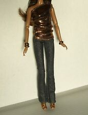 New Barbie Basics 2.1 2.5 model 8 08 Muse Clothing Outfit Metallic Top Jeans +++