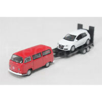 Welly 1:87 Die Cast Volkswagen Off-Roader Trailer VW T2 Golf GTI Car Red White