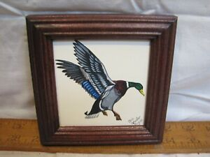 Sm Chris Scheidler Pagano Framed Painting Mallard Duck Decorative Wildlife Art