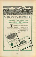"ADVERT "" Mini Poster "" Chateau Du Pavillon Grand Renouil Vineyard Wine Maker"