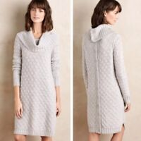 Anthropologie Sparrow Wool Button Back Sweater Dress Women's Size Small