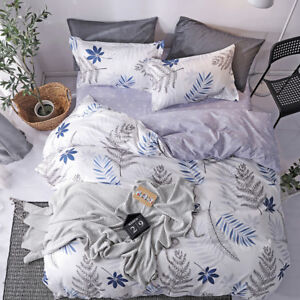 Country Leafage Quilt Duvet Cover Set + Pillowcase Single Double Queen King Size