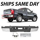 Complete- Chrome Rear Bumper for 2007-2013 Chevy Silverado GMC Sierra 1500 Truck