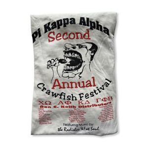 Vintage 90's Pi Kappa Alpha Fraternity Single Stitch T-Shirt Adult Size XL Rare