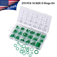 270pcs 18 Sizes AC System O-Ring Set Seals Oring Air Conditioning Rapid Nitrile