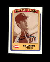 Jim Lonborg Hand Signed 1990 Swell Baseball Greats Boston Red Sox Autograph