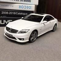 New 1/18 AUTOart Mercedes Benz CL63 AMG coupe open close car model white 76167