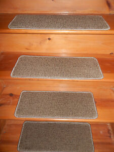 14 Step  9'' x 24'' +1 Landing 24'' x 29'' Wool Blend Tufted carpet Stair Treads