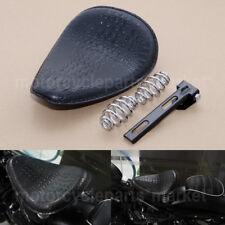 "Motorcycle Alligator 3"" Black Solo Spring Bracket Seat For Harley Chopper Custom"