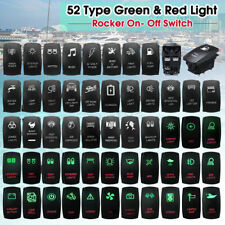 Car Boat Marine SUV Green & RED Dash Dual LED Light Rocker Switch ON/OFF 12V 24V