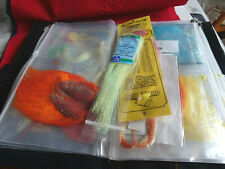 GOOD COLLECTION OF VINTAGE QUALITY FLY TYING CAPES AND OTHER MATERIALS IN WALLET