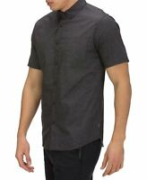Hurley Mens Shirt Gray Size Medium M Button Down Woven Classic Fit $50 213
