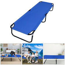 Outdoor Folding Bed Camping Cot Patio Hiking Sleeping Chaise Lounge Portable