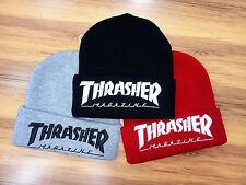 Men's Women Ski Cap Hip-Hop Thrasher Winter Warm Unisex Wool Hat