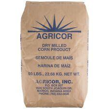 50 lb Bulk Supply Restaurant Hotel Kitchen Agricor Fine Ground Yellow Cornmeal