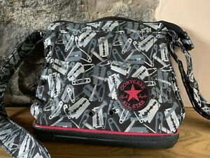 Converse All Stars Shoulder bag with Punky Razor Blade & Safty pin Pattern