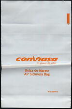 Conviasa bolsa de mareo air sickness barf disposal bag spucktüte mint VIASA ax