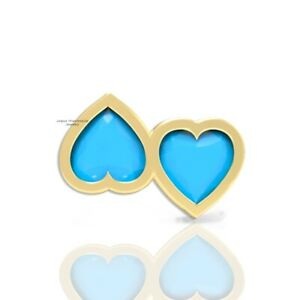 Double Heart Ring 925 Silver Turquoise Ring Valentines Ring for Couple Jewelry