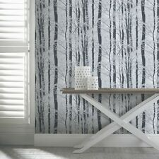 FROSTED WINTER WOOD FORREST TREES GLITTER SPARKLE WALLPAPER ARTHOUSE 670200