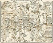 Mappa ANTICA 1888 Straube Berlin Taxi, Pianta Larga REPLICA poster stampa pam0365