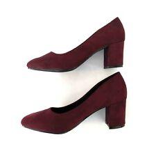 Zapatos Burdeos Clasicos con tacon para Mujer. Zapatos de tacon mujer