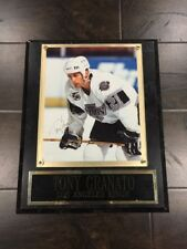 Tony Granato Los Angeles Kings Autographed Signed Photograph On Plaque Nameplate