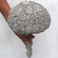 Luxury Crystal Rhinestone Bridal Wedding Bouquet Brooch Bride Holding Flower HOT