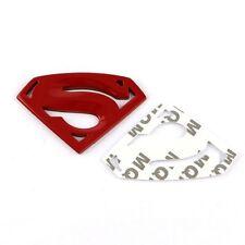 Cheap Door Fenders Hoods Rear Trunk Metal 3D Red Superman Emblem Sticker Badge