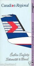 Safety Card - Canadian Regional - Dash 8 300 - Lavender - 1993 (S3259)