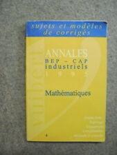 Livre mathématiques BEP CAP industriels 1995 /BB9