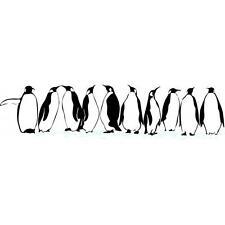 "Penguins Vinyl Wall Decal / Sticker [Animals 2] 10""x30"""