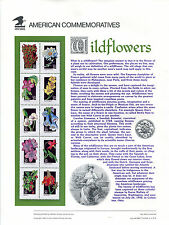 #2647-2696 29c Wildflower Sheets on 5 USPS #400-404 Commemorative Stamp Panels