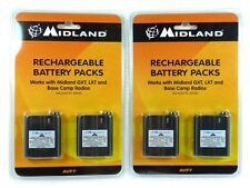 Lot of(2) MIDLAND AVP7 Rechargeable Batteries for MDLLXT210, MDLLXT310, MDLLXT41