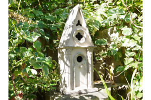 Gothic Bird Box Shabby chic painted Double deck birdHouse