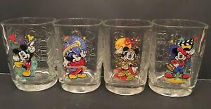 McDonald's Disney 2000 Millennium Celebration Square Glasses Theme Parks Set 4