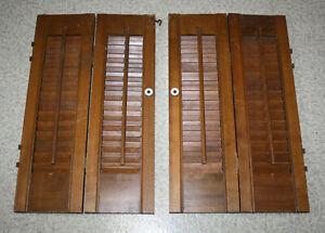 Vintage Wood Wooden Window Shutters Set 24 x 20