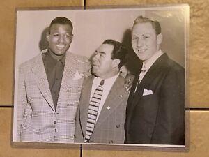 1953 Sugar Ray Robinson, Blinky Palermo Type 1 Boxing Photo PSA Ready Mafia Rare